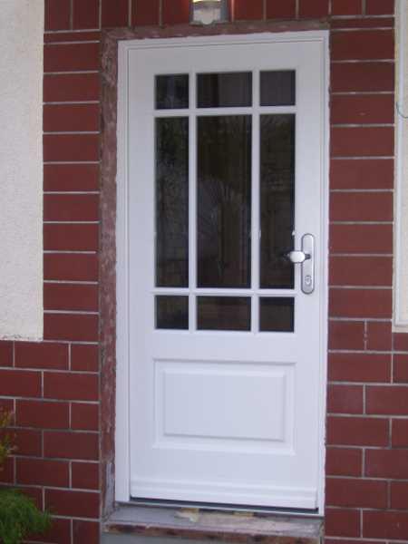 Haustür weiß sprossen  Schreinerei ABT - Haustüren